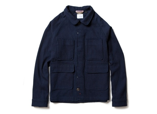 Indigo Wool Chore Jacket Apolis