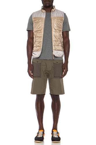 White Mountaineering Botanical Nylon Vest In Beige