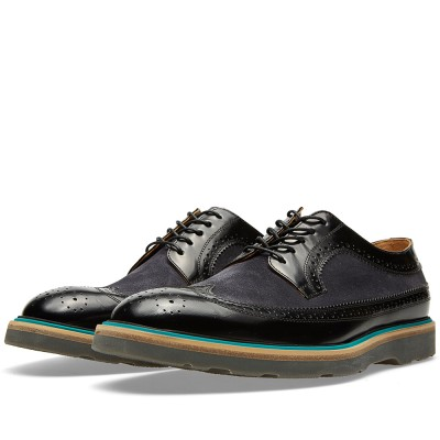 Paul Smith Suede Panel Grand Brogue Nero