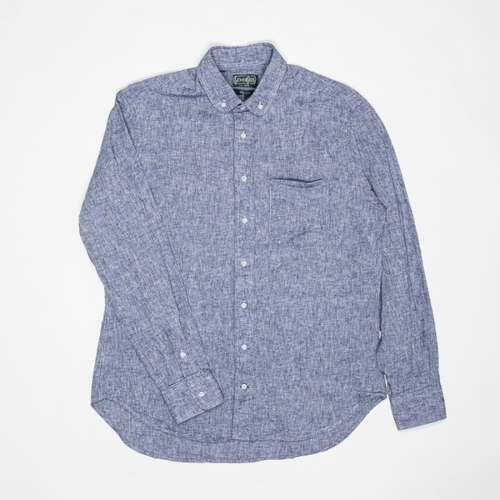 Gitman Vintage Chambray Shirt In Navy