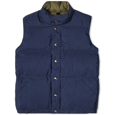 Crescent Down Works 60 40 Italian Vest Navy