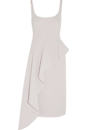 Cushnie Et Ochs Asymmetric Draped Wool Crepe Dress Net A Porter.Com
