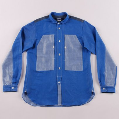 Junya Watanabe MAN Chambray x Dungaree Shirt Blue