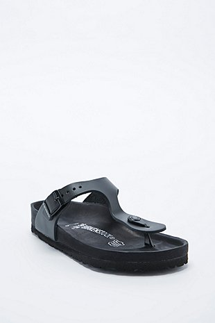 Birkenstock Gizeh Exquisite Leather Sandals In Black Urban Outfitters