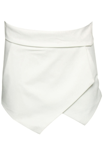 Romwe Asymmetric White Shorts The Latest Street Fashion