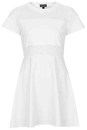Airtex Panel Skater Dress Sale Sale Topshop