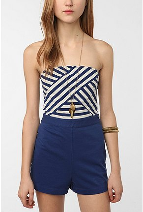 Urbanoutfitters.Com Cooperative Striped Top Sailor Romper