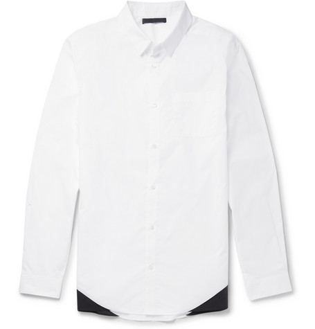 Alexander Wang Two Tone Cotton Shirt Mr Porter