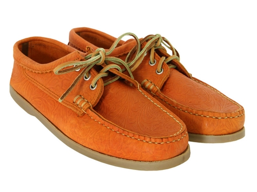 Yuketen Blucher Orange Shoes at Coggles com online store