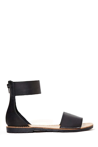 Avery Sandal Black Shop Flats At Nasty Gal