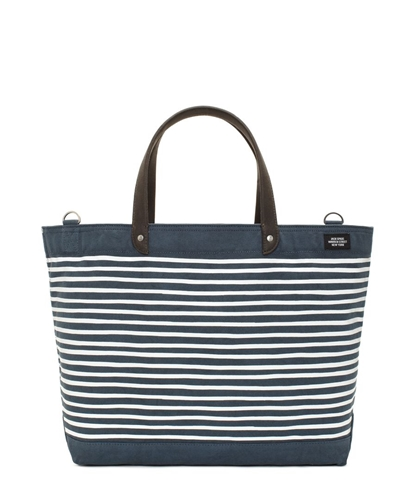 Jack Spade Stripe Printed Coal Bag