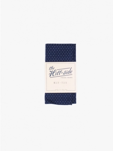 The Hill Side Pocket Square Pindot