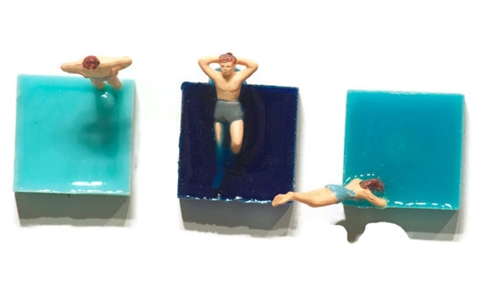 swimmer magnets by iamhome on Etsy