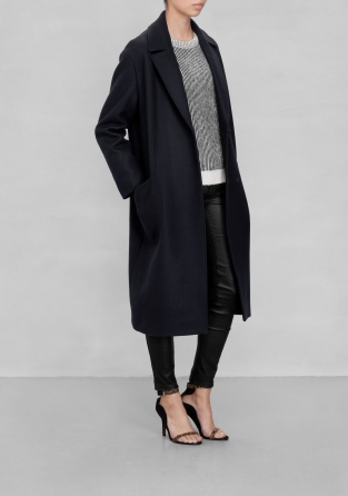 Other Stories Masculine Wool Coat