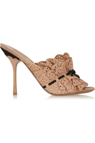Ruffled Suede Sandals Alaia 55 Off The Outnet