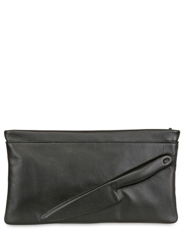 Vlieger Vandam Guardian Angel Embossed Leather Clutch Luisaviaroma Luxury Shopping Worldwide Shipping Florence