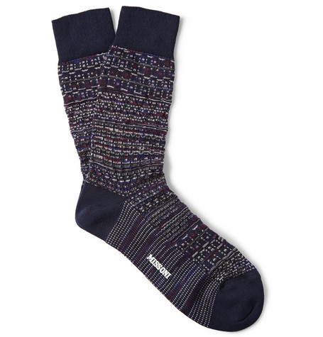 Missoni Textured Wool And Cotton Blend Socks Mr Porter
