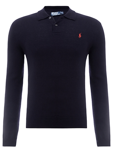 Buy Polo Ralph Lauren Long Sleeve Polo Shirt Navy online at JohnLewis com John Lewis