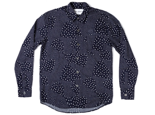 Neighbour Six Shirt Frame Dots Navy