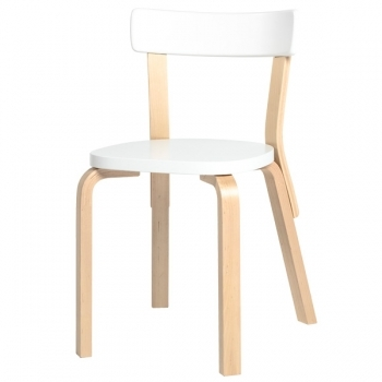 Aalto Chair 69 White Artek 69 Chairs Furniture Finnish Design Shop