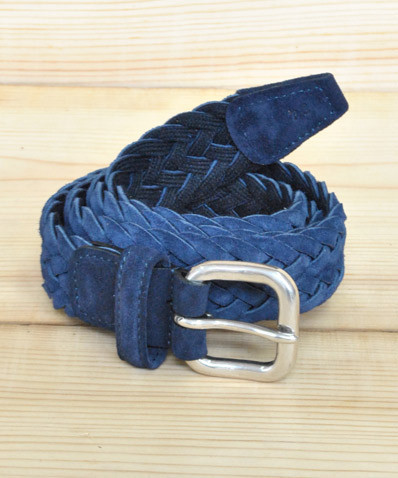 Woven Suede Belt Blue The Great Divide