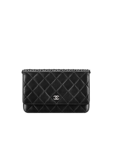 Lambskin Wallet On Chain With A... Chanel