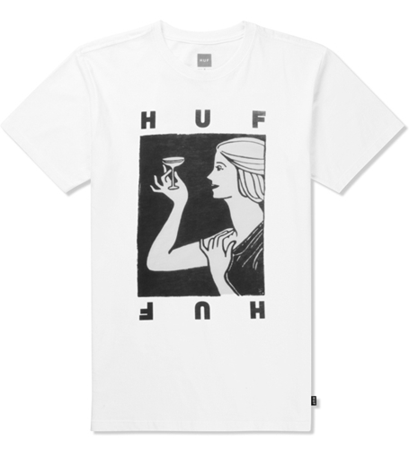 Huf White Cheers T Shirt Hypebeast Store. Shop Online For Men's Fashion Streetwear Sneakers Accessories