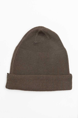 Our Legacy Knitted Hat Olive Merino Wool Our Legacy