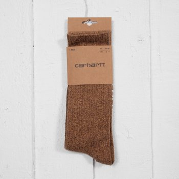 Buy Carhartt Basic Socks Carhartt Brown Heather At Denim Geek