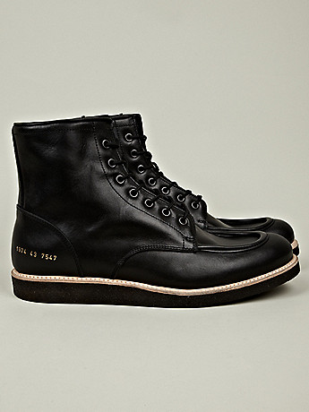 Common Projects Men s Work Boot in black at oki ni
