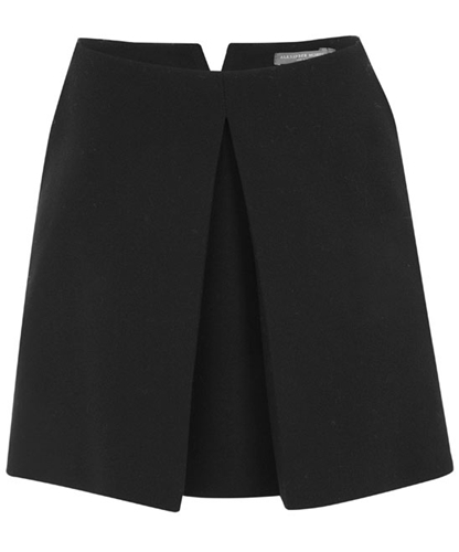 Black Crepe Wool Pleat Mini Skirt Alexander McQueen Shop more Alexander McQueen clothing at Liberty co uk