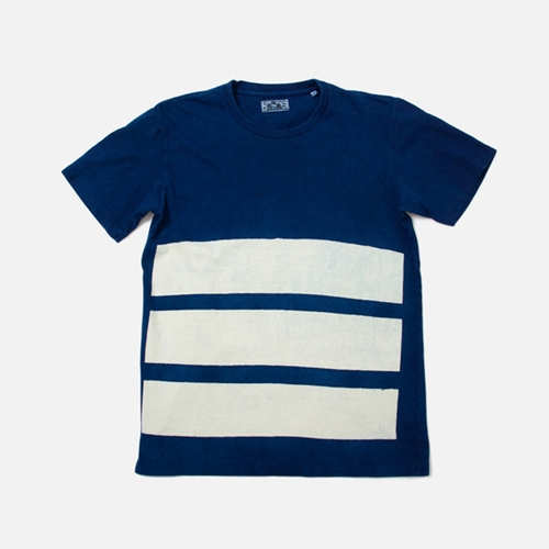 Blue Blue Japan 3 Stripe Sanbon Tee Indigo Anthem