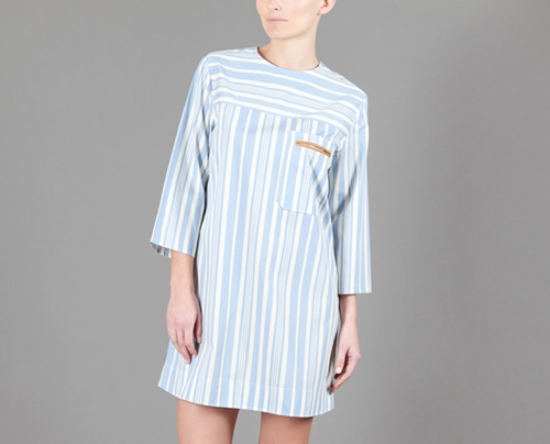 Le Mont St Michel Blue Transat Dress on sale at L Exception