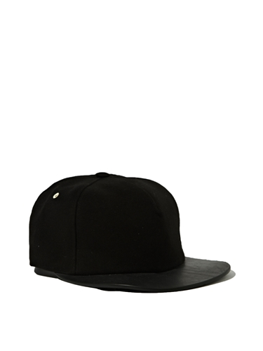 Rick Owens Drkshdw Mens Leather Detail Cap Ln Cc