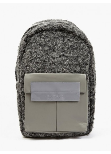 Eastpak X Nicomede Grey Shearling And Leather Fleury Backpack Oki Ni