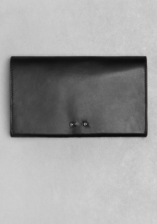 Other Stories Leather Clutch