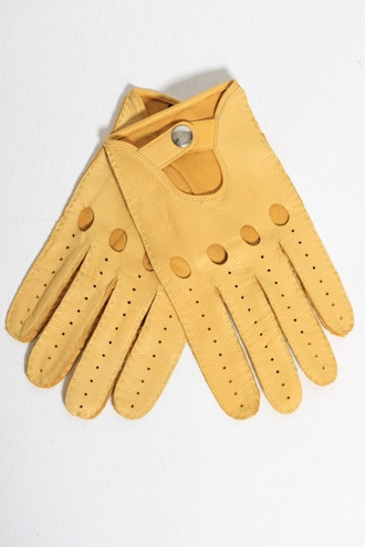 VIVIENNE WESTWOOD Vivienne Westwood Leather Driving Gloves in Yellow GLOVES from Autograph UK