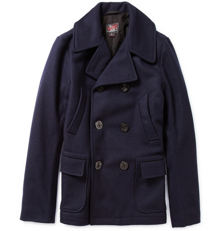 Woolrich Woolen Mills Padded Wool Blend Peacoat MR PORTER