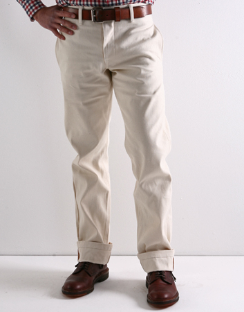 Left Field SS12 Field Chino White Oak Duck CONTEXT CLOTHING Free Shipping