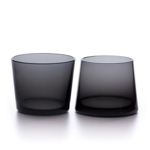 Amazon.Com Teroforma Avva Small Tumblers Set Of 2 Gray Ffp Kitchen Dining