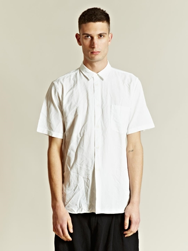 Comme Des Garcons Homme Men s Broad Ester Short Sleeved Shirt LN CC