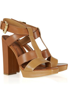 Elizabeth and James Two tone leather platform sandals 45 Off Now at THE OUTNET
