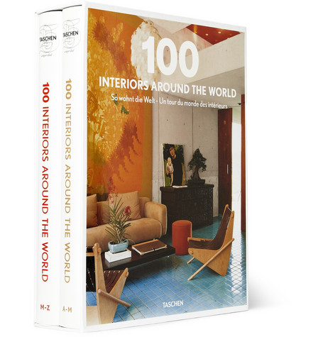 Taschen 100 Interiors Around The World Set Of 2 Books Mr Porter