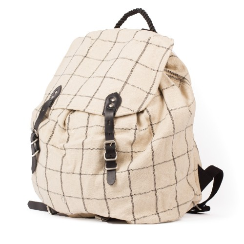 Stighlorgan Rian Post Backpack White Black Undscvrd