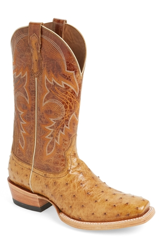 ariat hotwire ostrich leather cowboy boot nuji