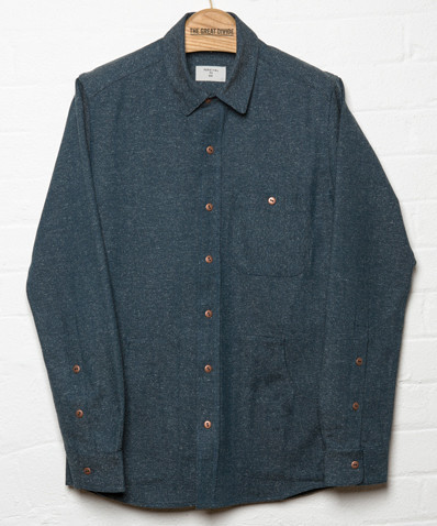 Percival Denton Herringbone Denim Shirt The Great Divide