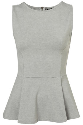 Sleeveless Peplum Top Jersey Tops Clothing Topshop