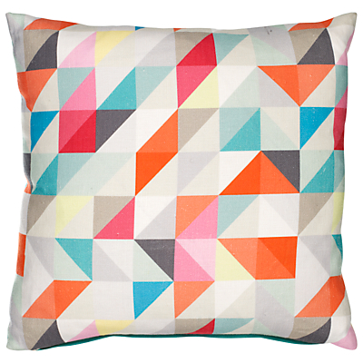 Buy John Lewis Geometric Print Cushion Multi online at JohnLewis com John Lewis