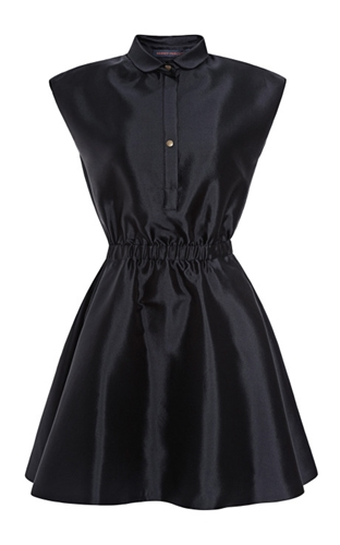 Silk Blend Gathered Waist Dress By Harvey Faircloth Moda Operandi