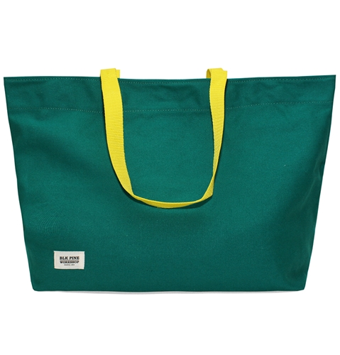 Blk Pine Simple Canvas Tote Bag In Green Huh. Store
